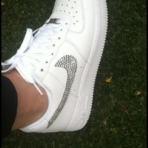 Nike Air Force 1's with Swarovski crystals